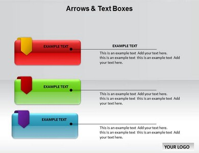 Arrows and Text Boxes Powerpoint Templates