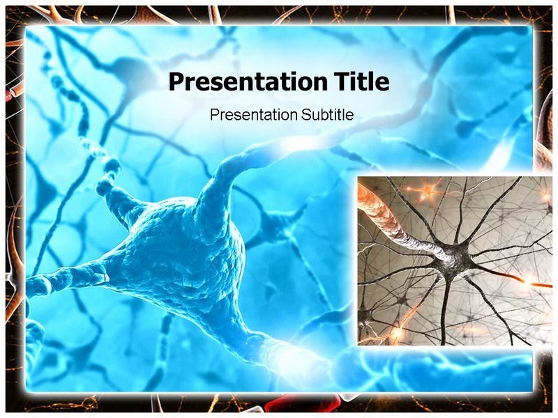 Active Axon Structure Powerpoint Templates