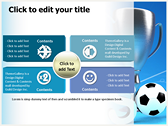 Soccer Cup power point background templates