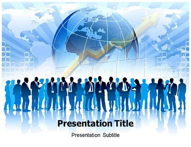 global business communication powerpoint template, powerpoint, Modern powerpoint