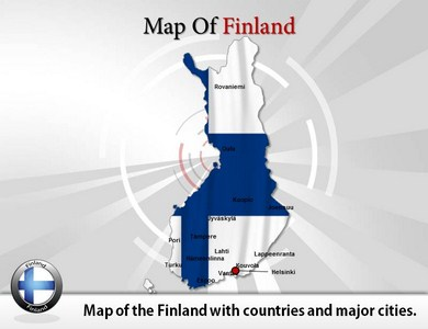 Finland Map   PowerPoint Templates