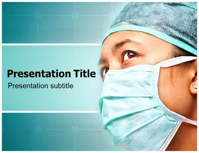 Medical Face Mask Treatment Powerpoint Templates