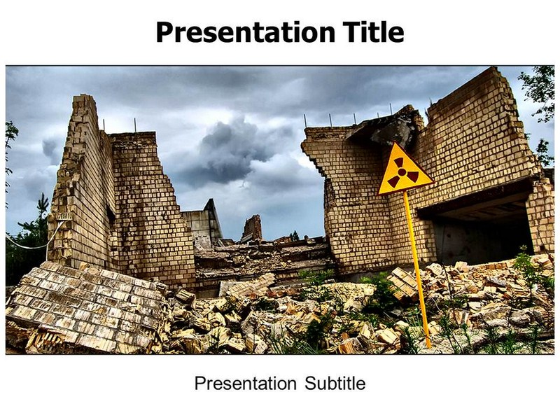 Chernobyl Disaster Powerpoint Templates