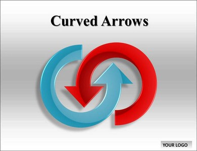 Curved Arrows Chart Powerpoint Templates