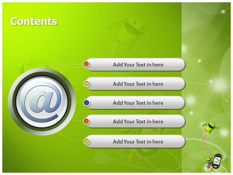 Android Phones Powerpoint Templates Powerpoint Presentation On