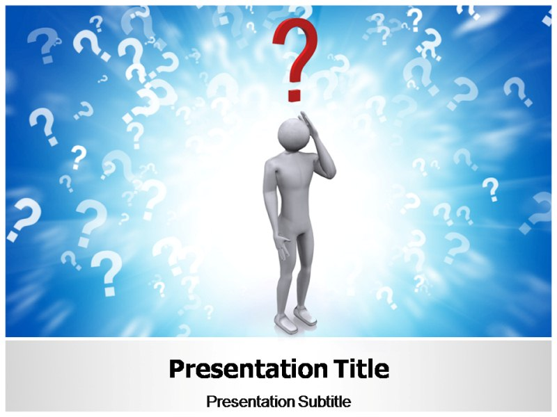 Any Questions Slide Powerpoint - klejonka