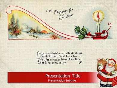 Christmas Card Powerpoint Templates
