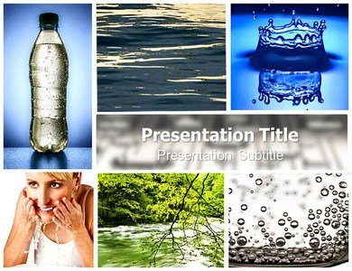 Fresh water Powerpoint Templates