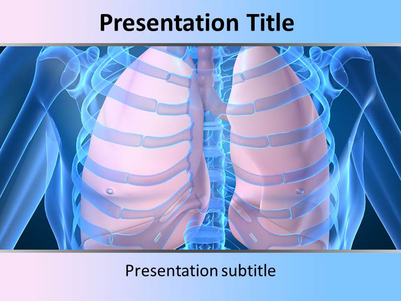 Human Lungs Templates For Powerpoint