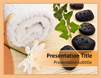 Spa Arrangement Powerpoint Templates