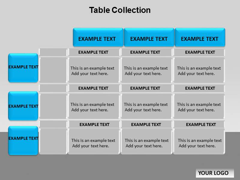 table collection chart templates for powerpoint table collection
