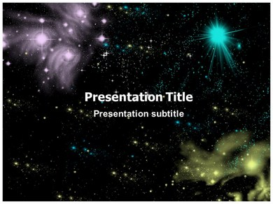 space galaxy powerpoint ppt templates ppt template for space