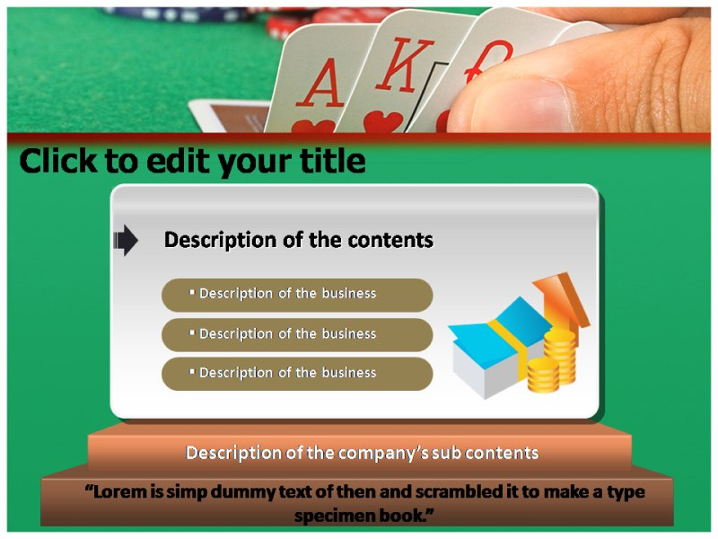 Playing Card 1 Powerpoint Templates