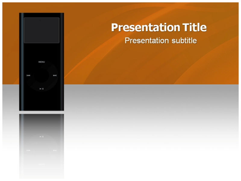 Apple Ipod Powerpoint Templates