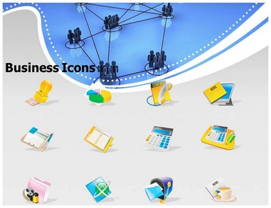 Business Network Interlinking Powerpoint Templates