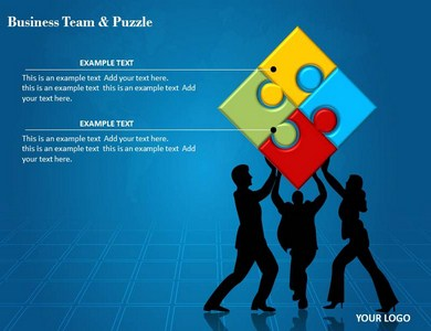 Business Team and Puzzle Powerpoint Templates