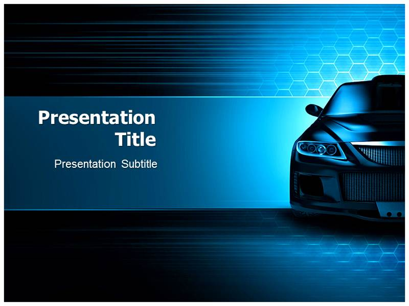 top car powerpoint templates powerpoint presentation on