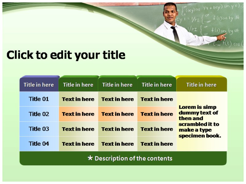 Teacher Lesson Plan Powerpoint Templates