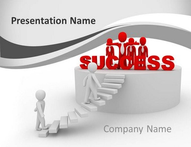 Reaching Success Powerpoint Templates