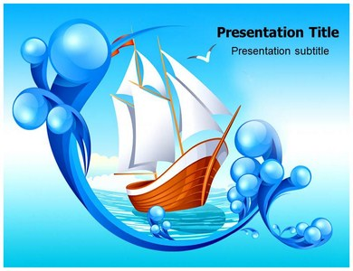 Sailing In Sea Powerpoint Templates