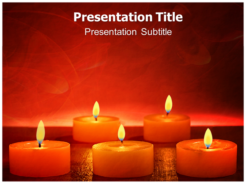 Votive Candles Powerpoint Templates