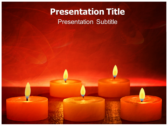 Votive Candles powerPoint template