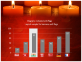 Votive Candles power point background graphics