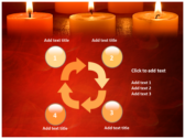 Votive Candles powerpoint theme templates