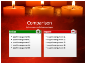 Votive Candles slides for powerpoint