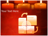 Votive Candles powerPoint backgrounds