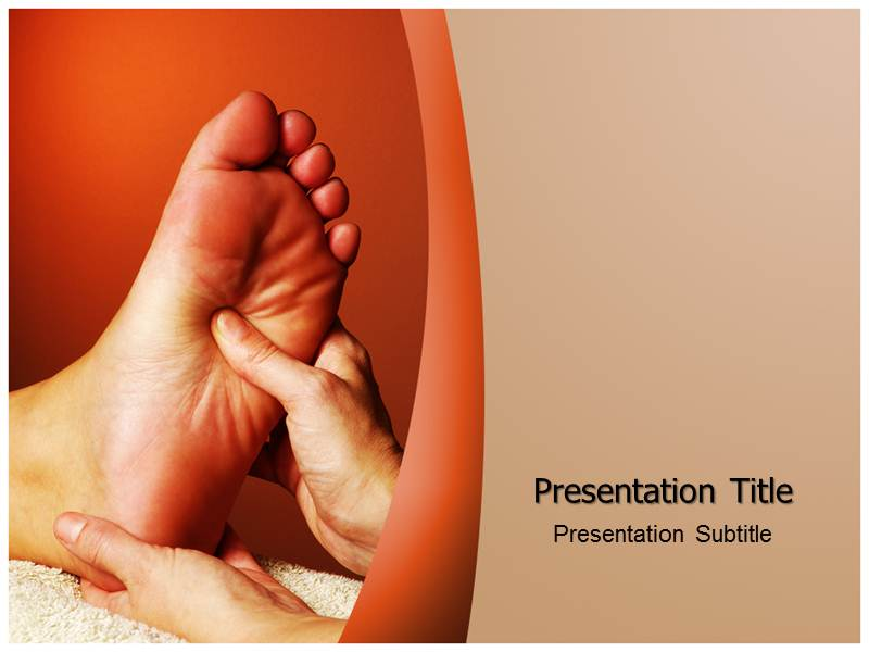 foot massage powerpoint ppt templates ppt template for foot