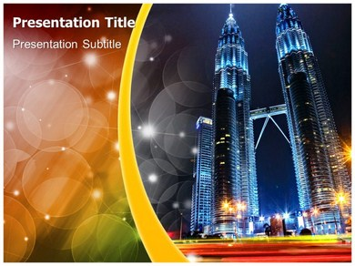 Twin Towers Collapse Powerpoint Templates