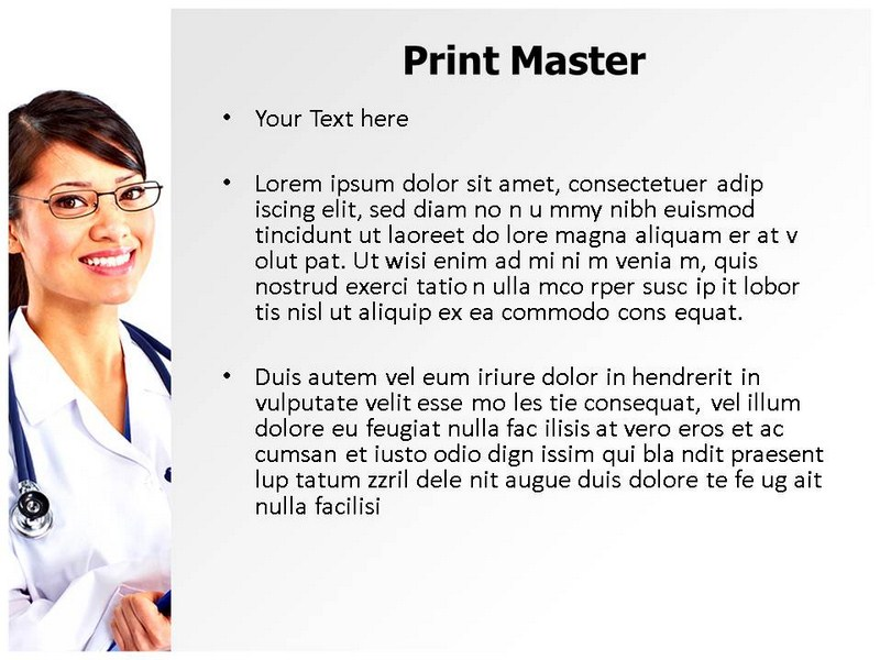 Female Physician Powerpoint Templates