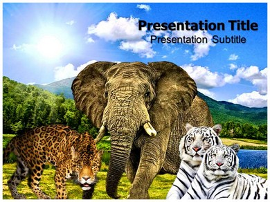 wild animals powerpoint templates | powerpoint presentation on, Modern powerpoint
