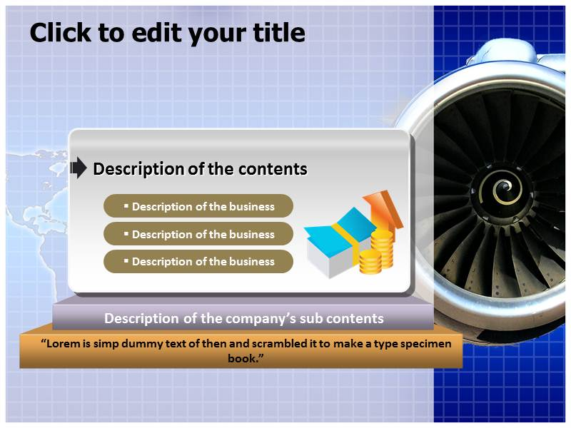 Jet engine Powerpoint Templates