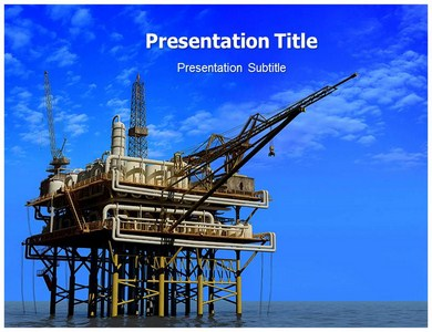 Oil Mining Companies Powerpoint Templates