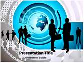 Communicating Concept powerPoint template