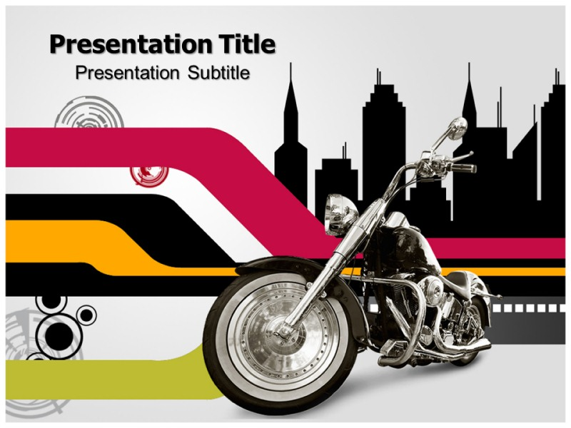 Bike Race 2 Powerpoint Templates