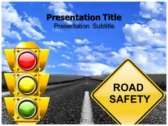 Road Safety Tips powerPoint template