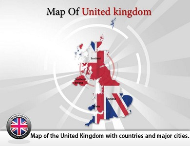Map Of Uk For Powerpoint.United Kingdom Uk Powerpoint Map Ppt Map Background United Kingdom