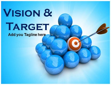 Vision and Target Powerpoint Templates