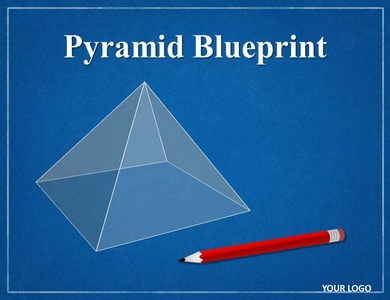 Pyramid Blueprint Chart Powerpoint Templates