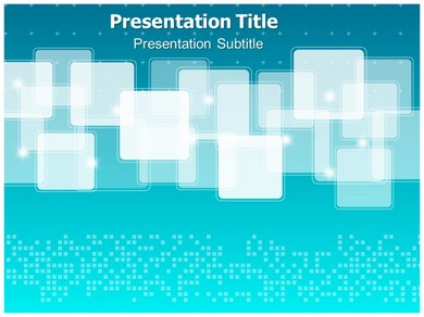 Blue Abstract Border Powerpoint Templates
