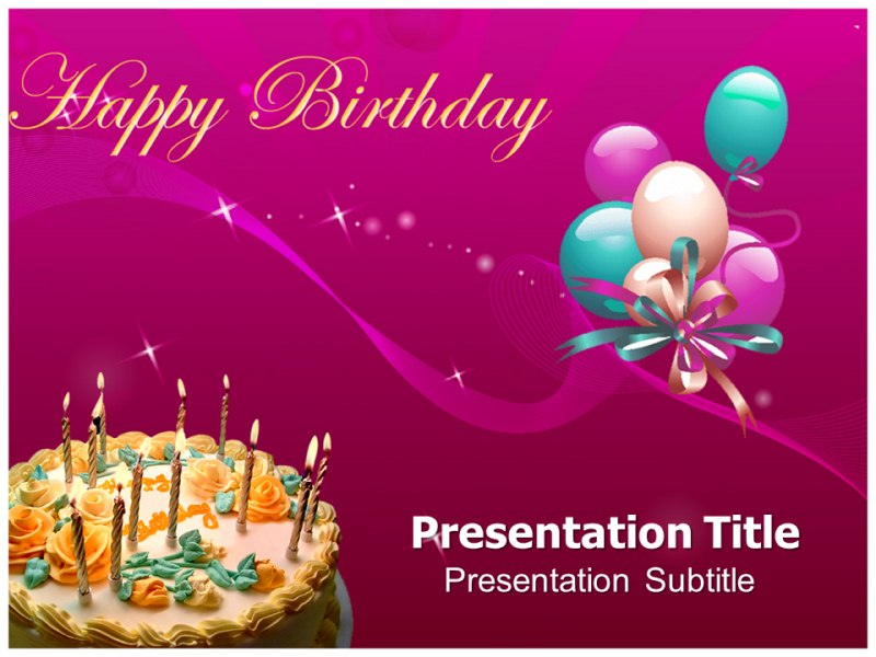 Happy Birthday Gifts Powerpoint Templates Powerpoint Presentation