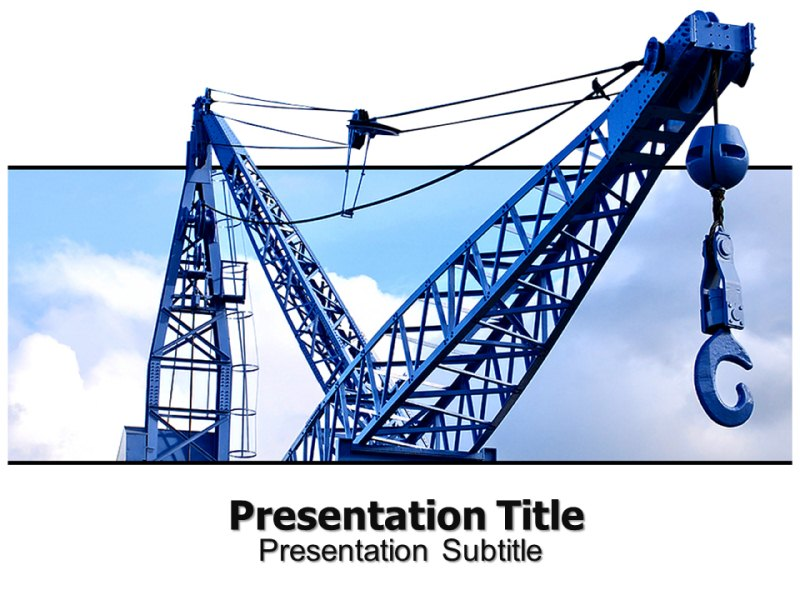 free crane ppt powerpoint templates powerpoint background for
