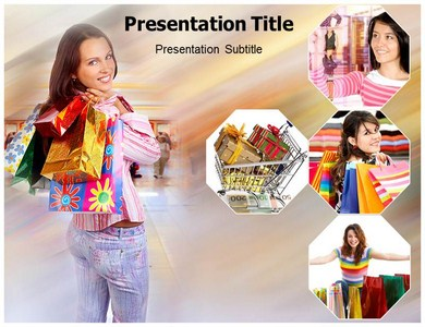 Go Shopping Powerpoint Templates