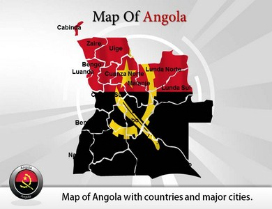 Interactive Angola Maps   PowerPoint Templates