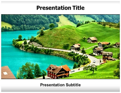 Urbanization In Village Areas Powerpoint Templates