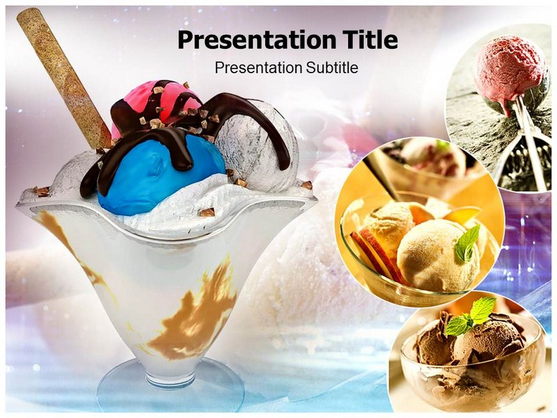 ice cream cake powerpoint template ppt template on ice cream