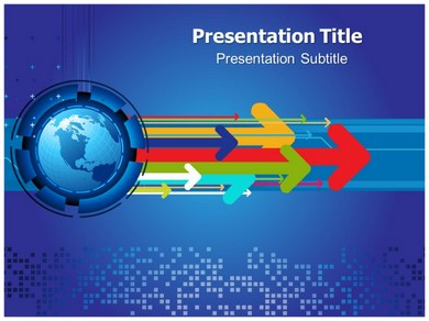 Colorful Arro Powerpoint Templates
